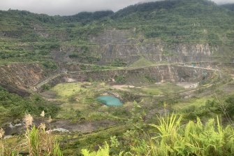 The Panguna mine: one of the largest man-made pits in the world.