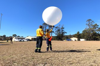 The Rural Fire Service deployed five weather balloon units during the recent bushfires. These balloons offered fire modellers more precise information on weather conditions to improve their predictions of fire behaviour.