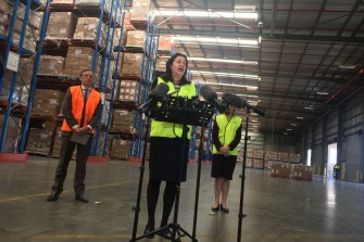 A newly expanded stockpile warehouse at Inala will be able to hold about 50 per cent more PPE, Ms Palaszczuk said.