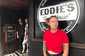 At Coolangatta, Eddie's Grubhouse manager Freya Frenzel says she had stood down 30 staff.