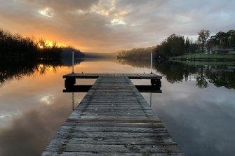 Lake Conjola at dawn.