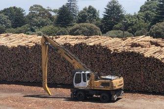 The Portland log pile is growing.