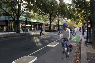 Exhibition Street and Rathdowne Street will be the first routes to get protected bike lanes under the upgrade.