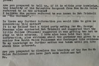 Notes of interview between John Silvester and NSW Police, June 1983.
