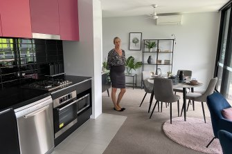 Inside a remodelled two-bedroom unit which was previously used by athletes during the 2018 Commonwealth Games.