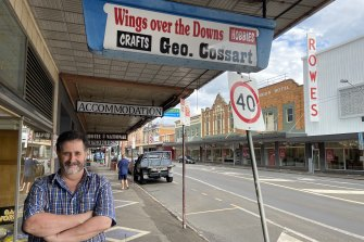 Business retailer Rob Mercer says little has changed in Toowoomba's Russell Street.