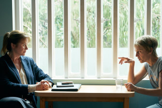 Prison interviews: Emily Watson (Dr Emma Robertson) and Denise Gough (Connie Mortensen) in Too Close.