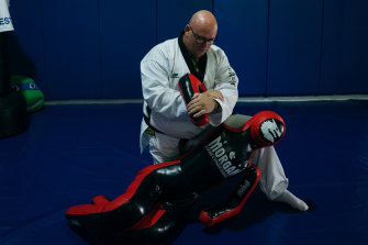 """""""Can you see my zen fading?"""" Robert Cooley, owner of FiveStar Martial Arts and Fitness in Albion Park Rail."""