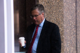 James Hooke outside the Federal Court on Tuesday.