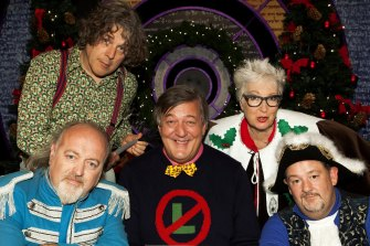 Work has helped ease the pain. QI Christmas special 2016 with Bill Bailey, Stephen Fry, Jenny Eclair and Johnnie Vegas.