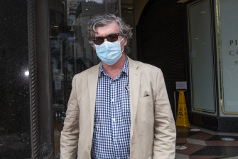 Sean Lander at the Downing Centre courts earlier this month.