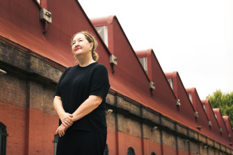 Closing early: Powerhouse Museum, chief executive officer Lisa Havilah outside the Harwood Building at Ultimo.