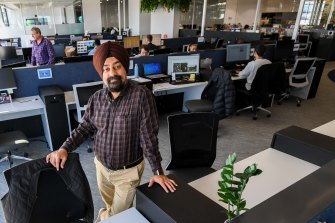 Mr Singh splits his week between suburban co-working, his CBD office and his home.