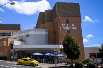 Box Hill Hospital will allow staff without intensive care experience to work in ICU wards over the coming month.