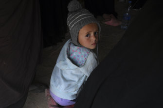 One of 46 Australian children detained in the camp housing the families of Islamic State fighters.