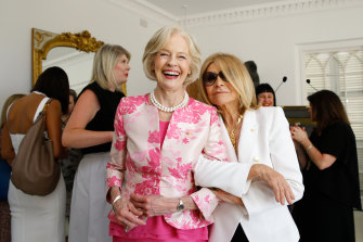 Dame Quentin Bryce and Carla Zampatti at the launch of My Life, My Look in Sydney in 2015.
