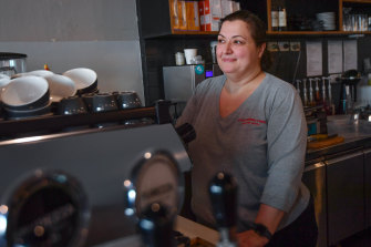Maria Latrou, owner of Espresso 155 cafe, hopes people in Ascot Vale will continue to support local businesses.