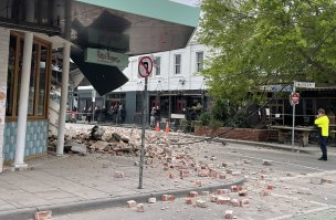 Nobody was injured when the bricks smashed onto Chapel Street.