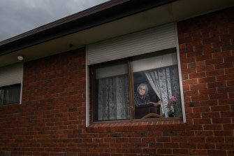 Gunai-Guditjamara textile artist Marlene Scerri, 70, during Melbourne's second lockdown.