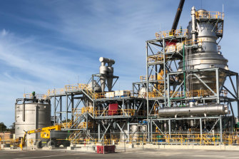 The new nickel sulphate plant.