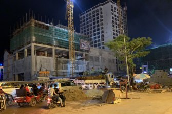 Another casino or bar goes up in Sihanoukville.