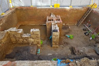 Digs at the Wesley Church area in 2017 found a preserved neighbourhood block metres below ground level.