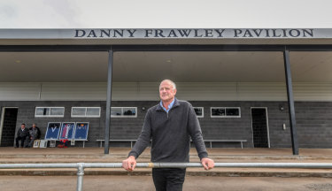 John Wade at the Danny Frawley Pavilion in Bungaree.