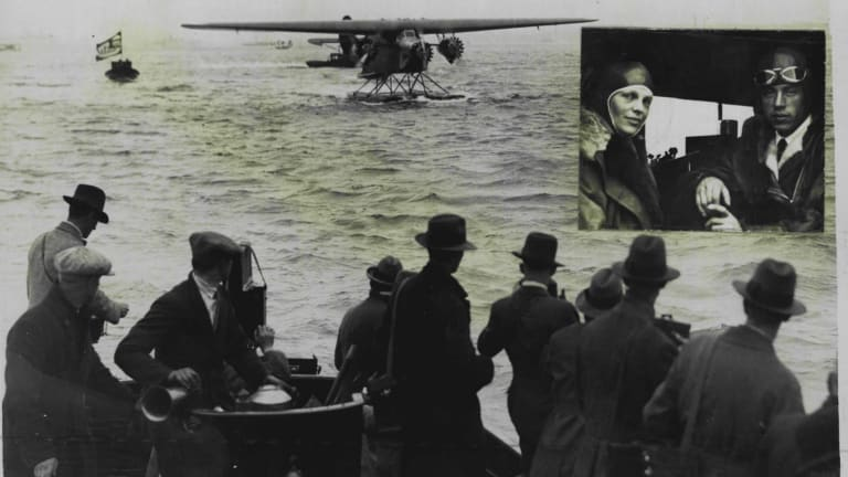 Amelia Earhart, who accompanied Captain Stultz in their successful flight across the Atlantic from Newfoundland to Wales on June 19, 1928.