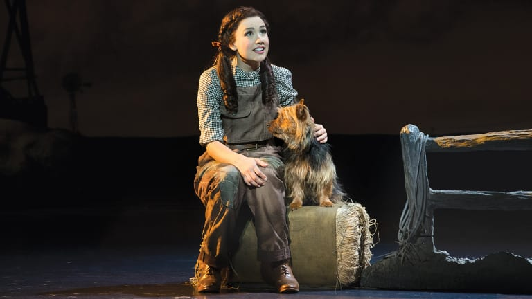 The Wizard of Oz stars: Samantha Dodemaide as Dorothy and Trouble the Aussie terrier as Toto.