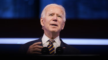 """Joe Biden's rallying call: """"I'm absolutely, positively confident we're going to come back ... even stronger than before.''"""