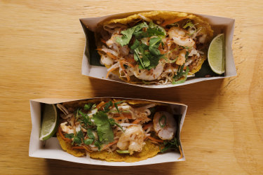 Banh xeo meets tacos at Kinhboy in Redfern, Sydney,