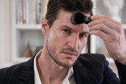 A model applies foundation from British men's makeup brand War Paint