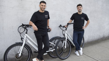 Mina Nada and Michael Johnson point to the lower upfront cost of e-bikes.