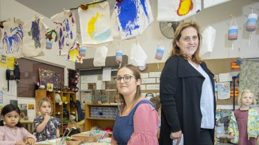 Sally Lamb (left) and Anna Chiera of Annie Dennis Children's Centre in Northcote.