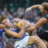Undermanned Eagles outwork Carlton to all but end Blues' season