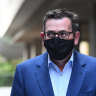 Dan Andrews shifts from floating virus to drifting smog.