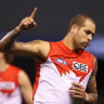 Six-goal haul takes Franklin into nervous 990s as GWS await in finals
