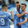 Melbourne City poised to secure second spot after outclassing Sydney
