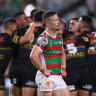 Rabbitohs hooker Damien Cook can feel things slipping away.
