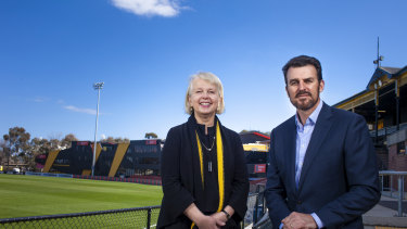 Richmond President Peggy O'Neal and CEO Brendon Gale.