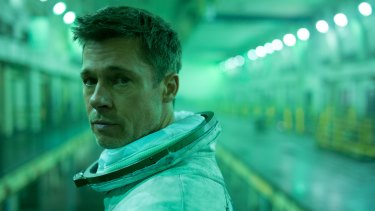 Brad Pitt has daddy issues as astronaut Roy McBride in the film Ad Astra.
