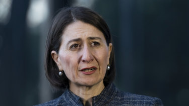 NSW Premier Gladys Berejiklian addresses the media on the latest developments of the coronavirus pandemic.
