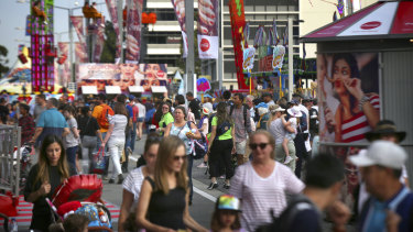 Sydney Royal Easter Show usually draws up to 900,000 people.