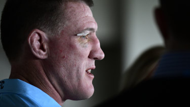 Calling card: Paul Gallen helped lure a number of Sharks to the club.