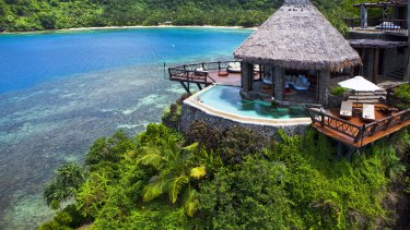 Laucala Island Resort in Fiji where rooms costs as much as $24,000 a night.