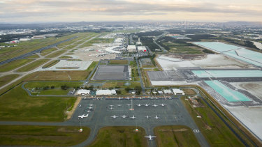 The new parallel runway at Brisbane Airport is expected to open this year.