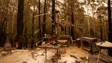 Scenes from Mallacoota today after the Gippsland bushfires.