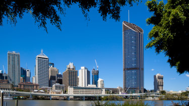 One William Street is Brisbane's tallest commercial skyscraper and home to 5000 public servants, politicians and ministerial staff.