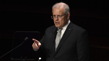 """Prime Minister Scott Morrison warns of """"negative globalism"""" as he delivers the 2019 Lowy Institute lecture."""