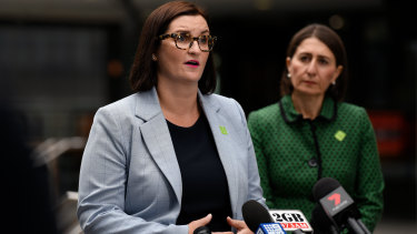 Going their own way: NSW Education Minister Sarah Mitchell with Premier Gladys Berejiklian.